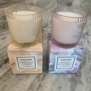 VOLUSPA French Toast + Violet & Honey CANDLE LOT